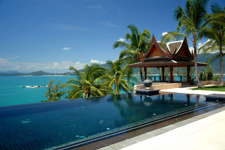 Phuket Villa 423 Infinity pool and view of sea