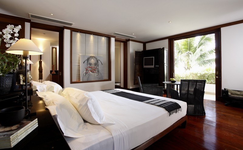 Phuket Villa 423 Luxurious  Bedroom with views of nature