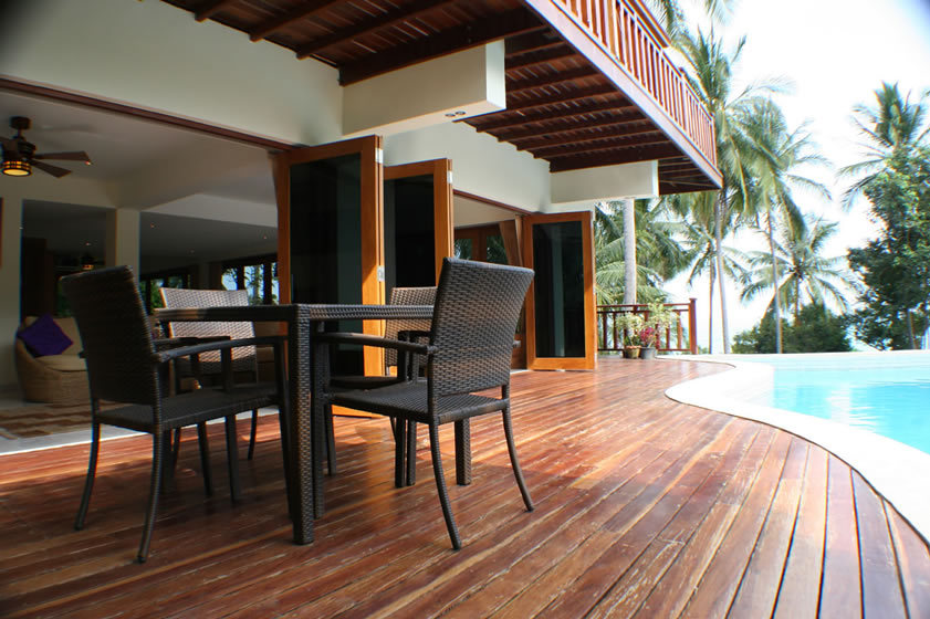 Koh Phangan Villa 4165 Poolside dining