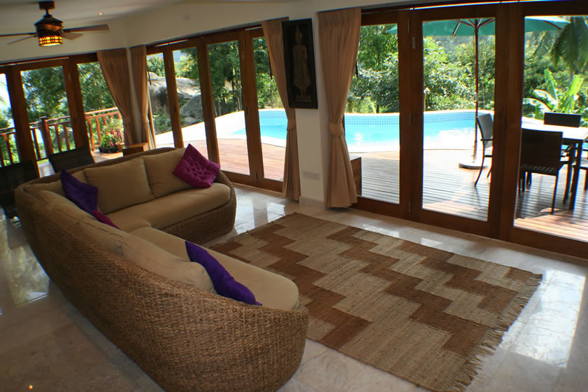 Koh Phangan Villa 4165 - expansive indoor and outdoor living spaces