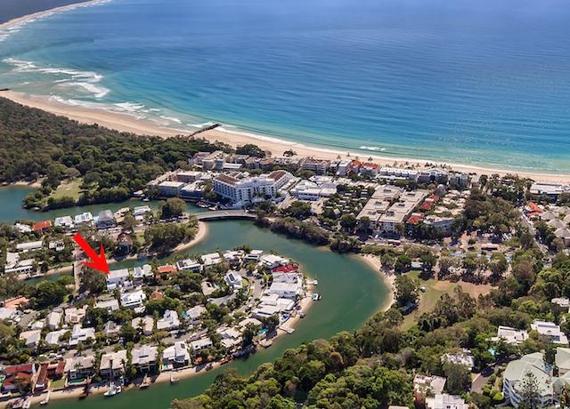 Queensland Villa 565 Aerial View and position of villa