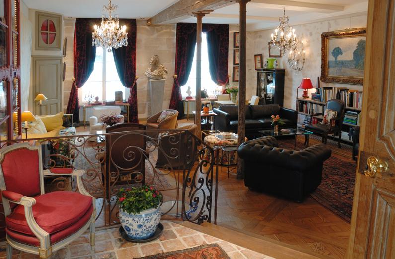 Paris Villa 1032 French interior design with chandeliers