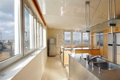 Paris Villa 1033 - modern stainless steel kitchen