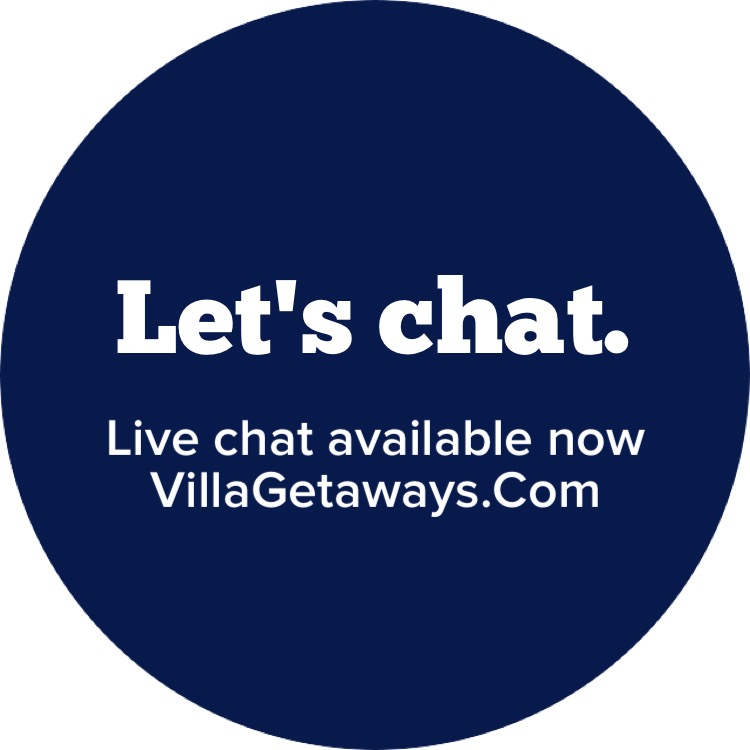 Live Chat available now on villa getaways