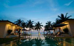 Koh Samui Villa 4264 Pool in the evening