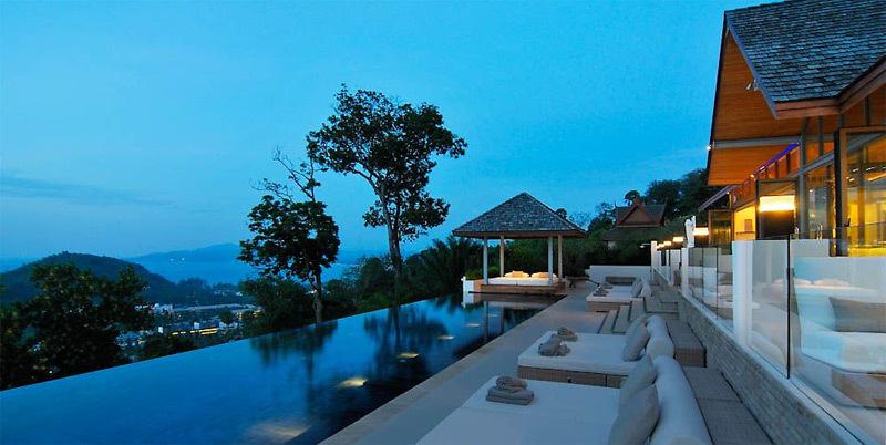Phuket Villa 4195 pool view in evening