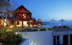 Phuket Villa 4186 Evening view of sala and pool