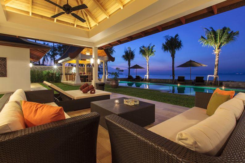 Koh Samui Villa 4373 - Villa Sila Living Room