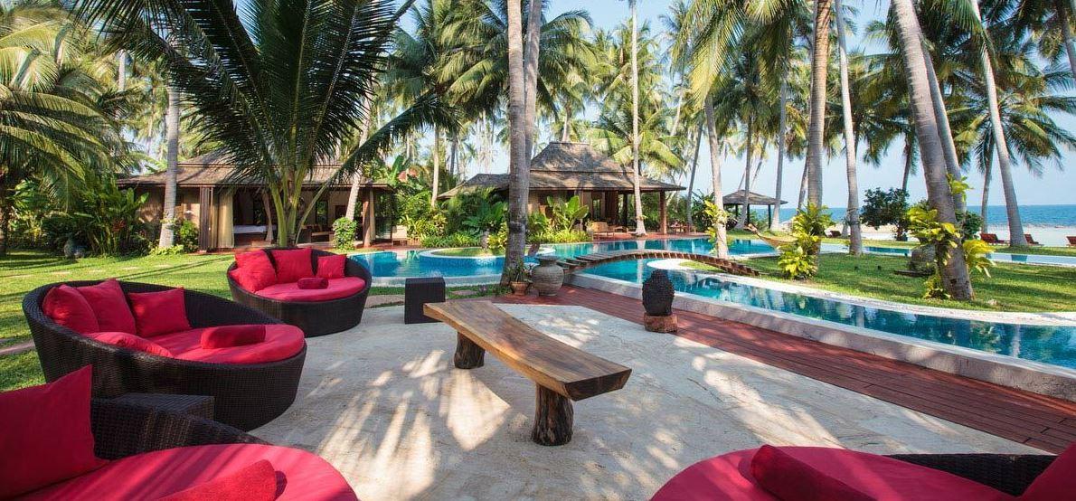 Koh Samui Villa 4438 - Villa Kalyana - Poolside sofas