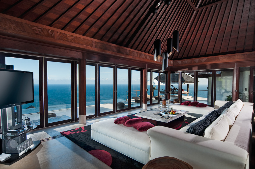 The Edge - Uluwatu Villa 3304 Main Living Room with sea views