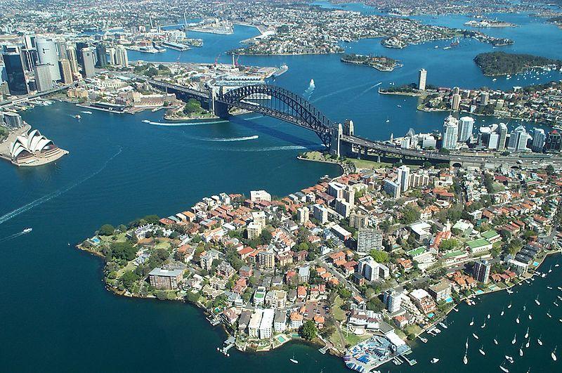 Sydney's famous Harbor bridge and Opera House