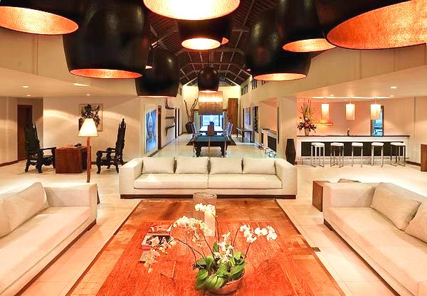 Marvelous wood works, Antique finish and Ornate luminaires grace Villa 3148 Interiors
