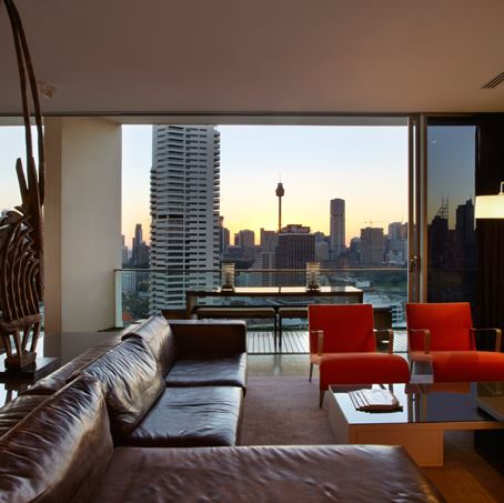 Sydney Villa 5345 - elegant lounge areas & view from 15th floor apartment