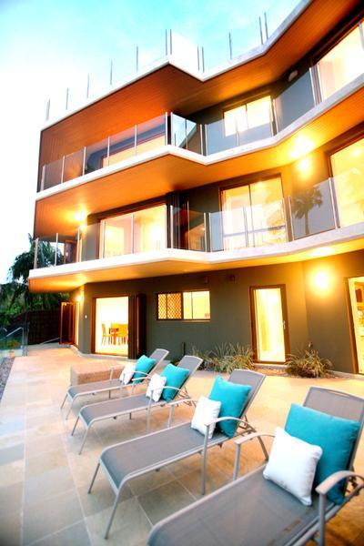 Byron Bay Villa 580 - property is tri-level with the top two storeys representing the main house