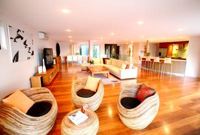 Byron Bay Villa 580  - spacious living areas with Large big screen televisions