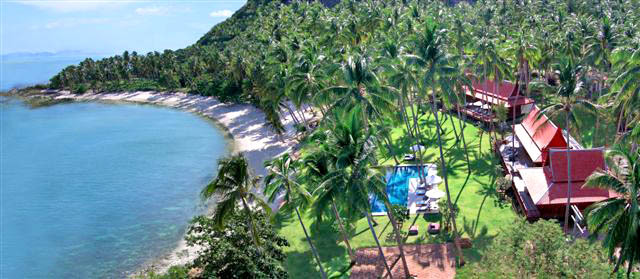 Koh Samui Villa 413 - Helicopter view of the location