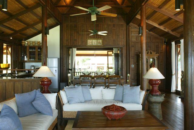 Koh Samui Villa 413 - Thai style design using aristocratic teak wood and gabled roof