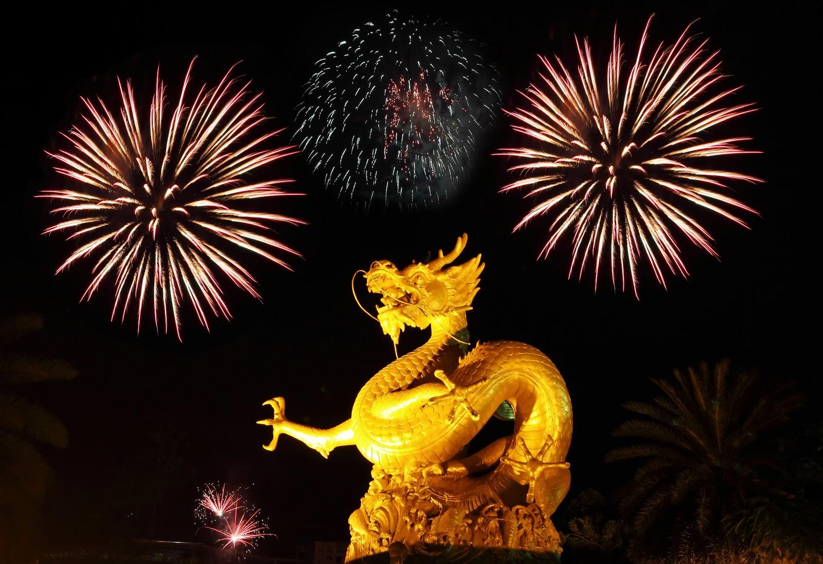 Chinese new year fireworks phuket