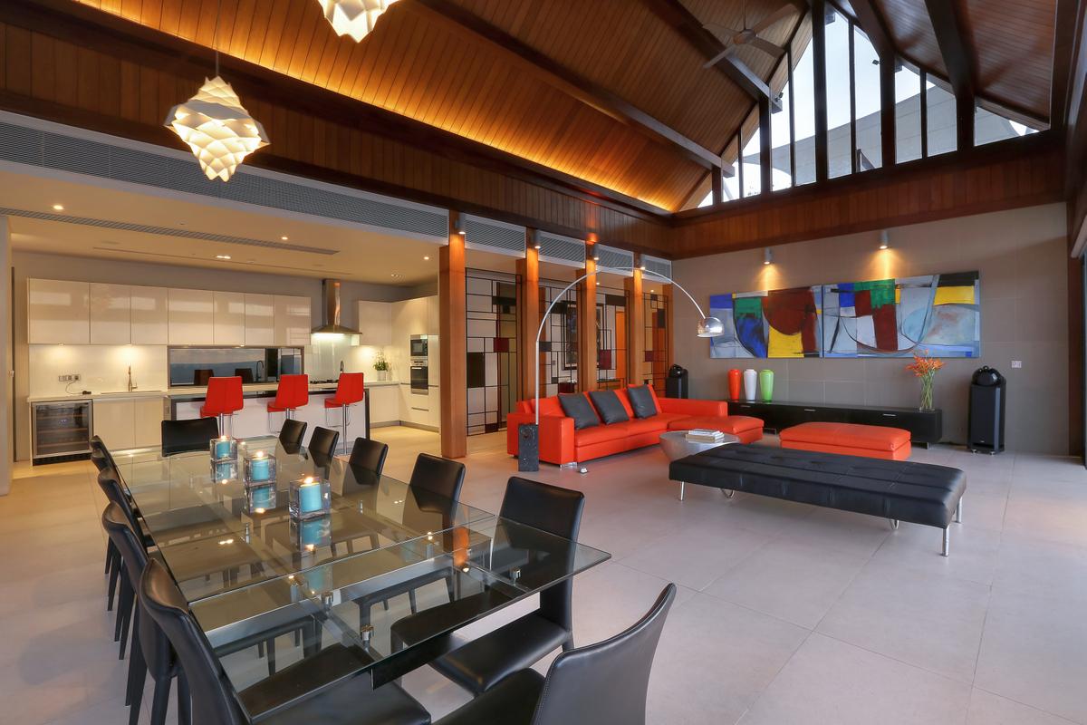 Phuket Villa 412  - Living Space
