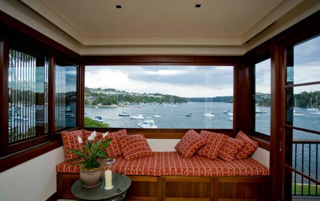 Villa 5351 in Mosman - lots of glass to take in the spectacular harbour views