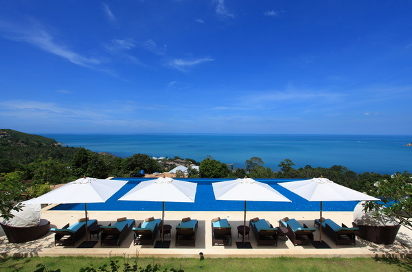 Koh Samui Villa 4255 - massive infinity swimming pool