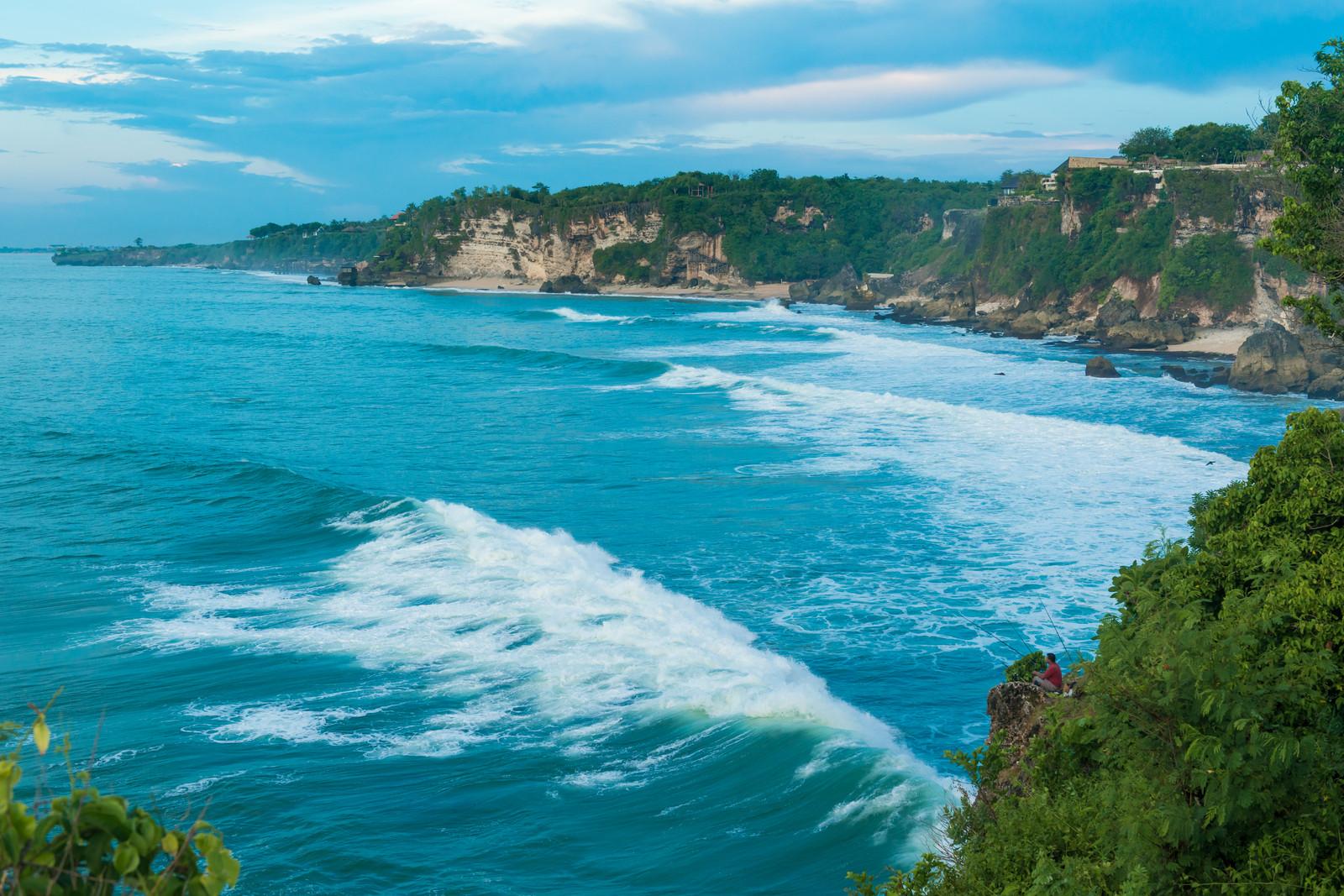 Bali crystal water at island's crust