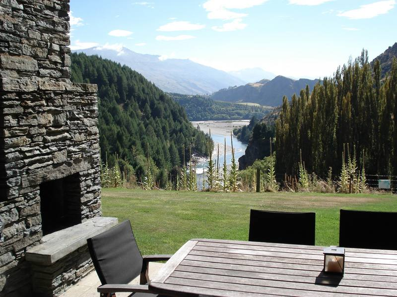 Queenstown Villa 649 - most sublime view framed by pine trees on either side