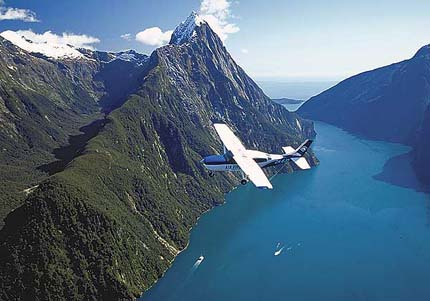 scenic flight - milford sound