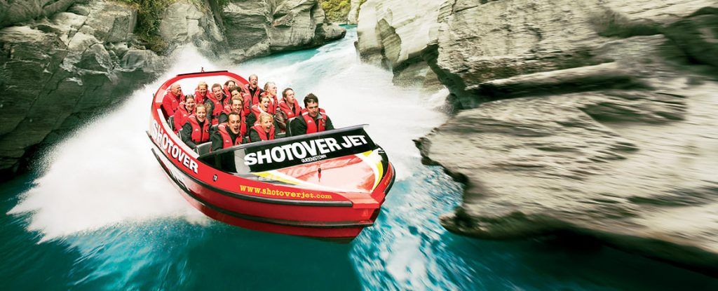 shotover Jet Queenstown Adventure package VIlla Getaways