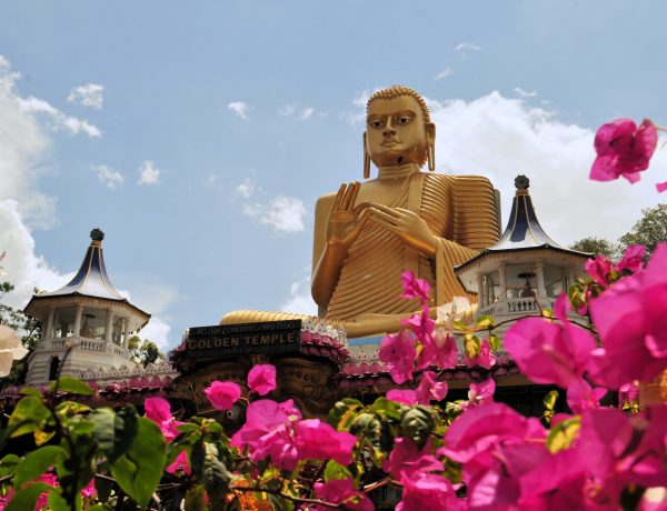 Golden Buddha of Dambulla, Sri Lanka. Travel with Villa Getaways
